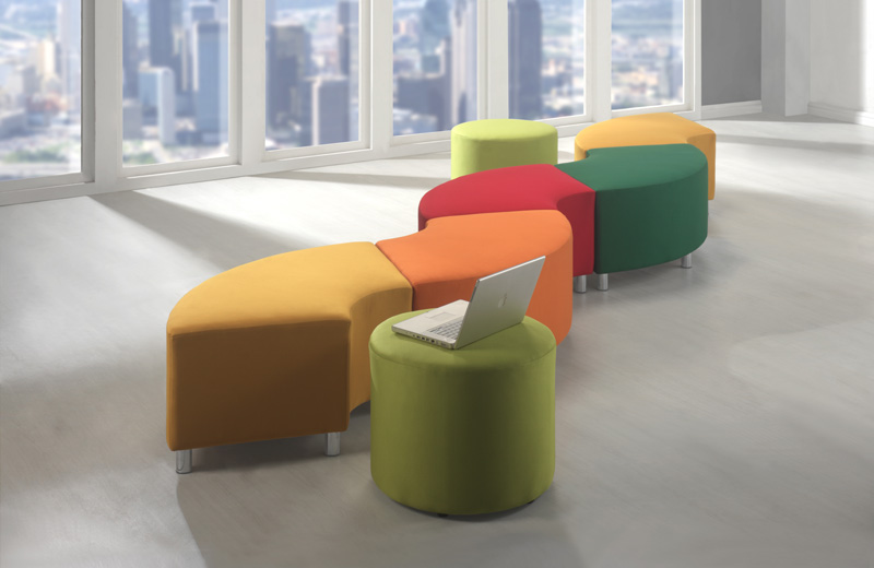The JAMA modular sofa allows you to jazz up your office space with your refined taste. The fan-shaped individuals can be used as stand- alone pieces of furniture, or together to form a landscape of liveliness. Play around with the curves and create endless possibilities of your own. Unleash the creativity and let your imagination run wild.