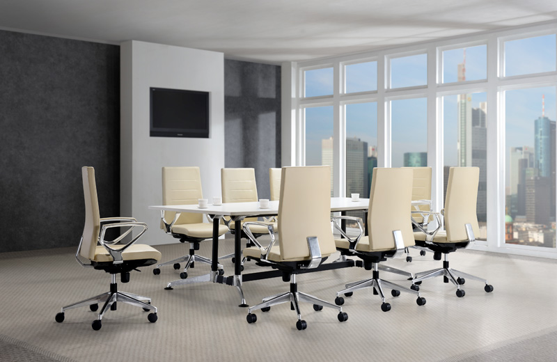 Elegantly slim and generously equipped, it illuminates its exclusive and prestigious image. Impressively engineered to interpret ergonomics contour and visible functions, BUROSC MYOR excels itself as a modern designed leather chair ideally tailored for Top Management & Senior Executives.