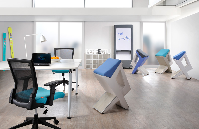 U SWIFT BY PERFECT U Contemporary modern and attractively designed with functionality in mind, this sleek beauty chair provide the ultimate seating comfort for offices and homes. The natural 'S-curve' shaped backrest provides excellent support for the lumbar region while the wide square frame supports the shoulders.